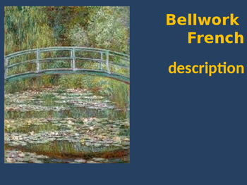 Bellwork French vocabulary description