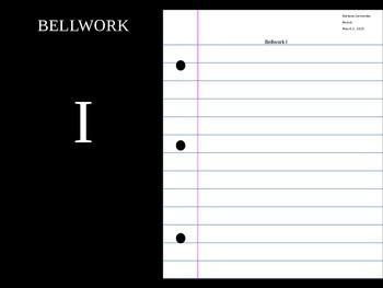 Bellwork & Journal Questions