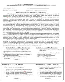 Reading/ Social Studies Bell work: Paleolithic & Neolithic {History Guru}