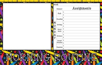 Morning Routine (Bellwork & Planner) Daily PowerPoint