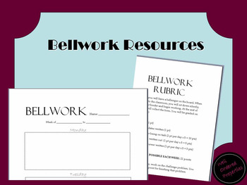 Bellwork Resources - EDITABLE