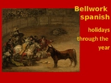 Bellwork Spanish to use before holidays