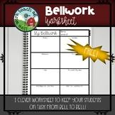 Bellwork Worksheet