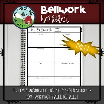 Bellwork Worksheet