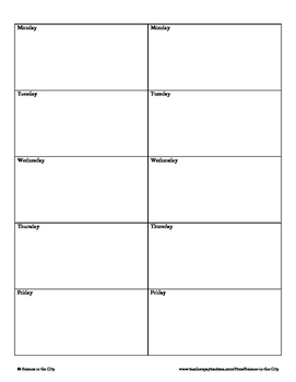Bellwork or Daily Quiz Template by Science in the City TpT