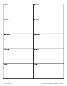 Bellwork or Daily Warm Up Answer Sheet Template