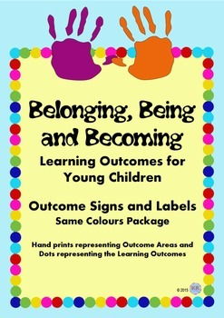 Belonging Being Becoming Outcomes Signs for Childcare Early Years EYLF - Same