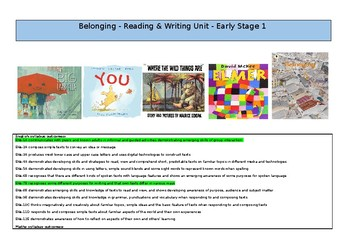Belonging Reading and Writing Unit