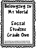 Grade 1 Alberta Social Studies Belonging in My World