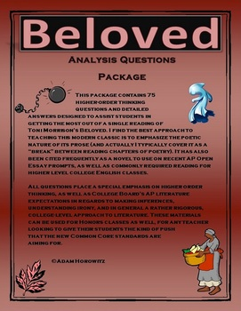 Beloved Analysis Question Package