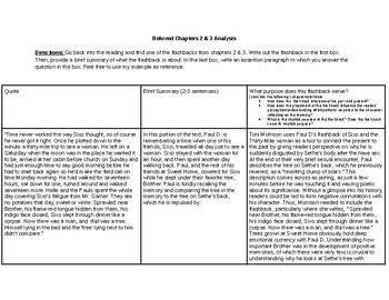 Beloved Ch. 2-3 Flashback Analysis