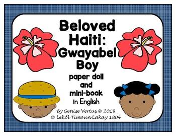 Beloved Haiti: Guayabel Boy Paper Doll and Mini-Book in English