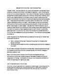Beloved Performance Task / Essay based on Critical Race Theory