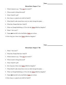 Beloved Quiz Chapter 17 (Morrison)