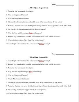 Beloved Quiz Chapter 16 (Morrison)