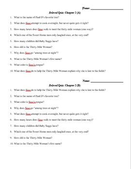 Beloved Quiz Chapter 2 (Morrison)