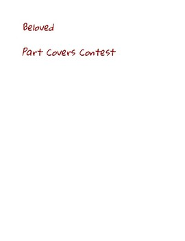 Beloved (Toni Morrison) Parts Cover/Writing Contest
