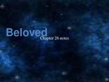 Beloved by Toni Morrison chapter 26 analysis notes