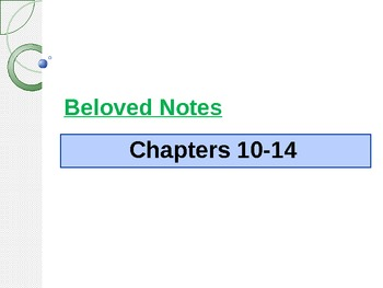 Beloved by Toni Morrison chapters 10-14 analysis notes