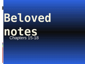 Beloved by Toni Morrison chapters 15-18 analysis notes
