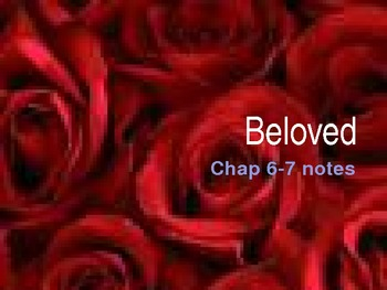 Beloved by Toni Morrison chapters 5-9 analysis notes