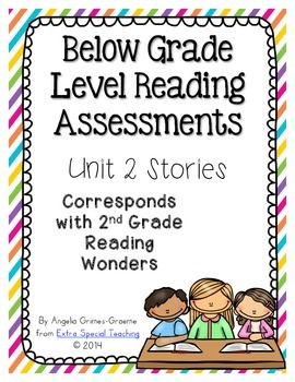 Below Grade Level Assessments for Reading Wonders Grade 2 Unit 2 (freebie)