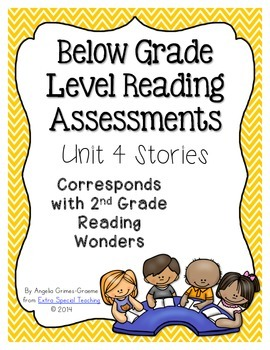 Below Grade Level Assessments for Reading Wonders Grade 2 Unit 4 (freebie)