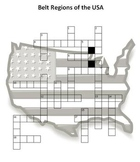 Belt Regions of the USA - Crossword Puzzle