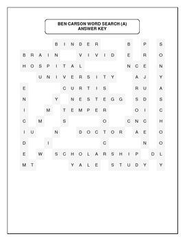 Ben Carson Word Search (Advanced)