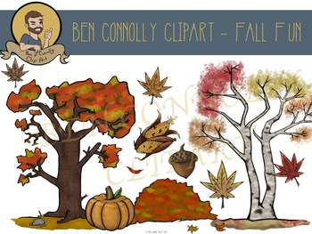 Fall (Autumn) Leaves and Trees Clip Art