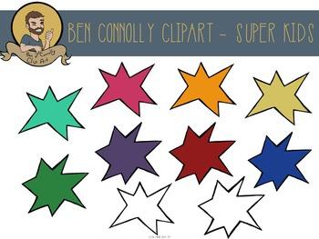 Super Kids (Superhero) Clip Art