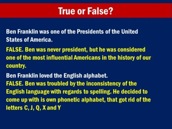 Ben Franklin   Benjamin Franklin   Benjamin Franklin   Ben Franklin Activity