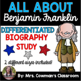 Ben Franklin Biography Study- Differentiated for First Grade