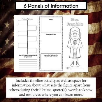 Ben Franklin Biography Trifold Brochure