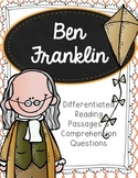 Ben Franklin Differentiated Reading Passages & Comprehension Questions