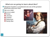 Ben Franklin PowerPoint - Part of Unit on Inventors - LOTS of Info!