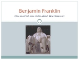 Ben Franklin PowerPoint and Guided Notes