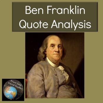 Ben Franklin Quote Analysis