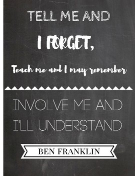 Ben Franklin Quote Chalkboard Style