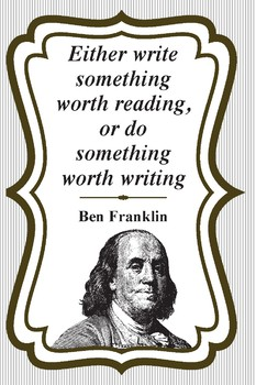 Ben Franklin Quote- Classroom Reading/Writing poster