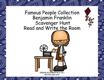 Ben Franklin- Read and Write The Room- Grades 4-7