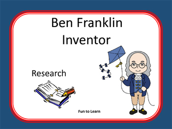 Ben Franklin ~ Research