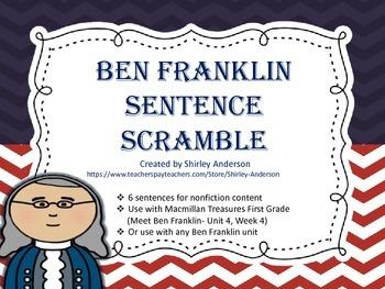 Ben Franklin Sentence Scramble