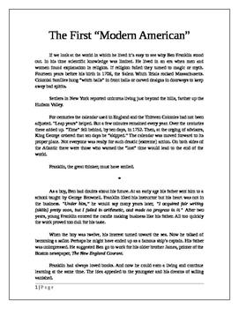 Ben Franklin: The First Modern American