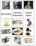 Ben Franklin Thomas Edison Alexander Graham Bell Sort inventions inventors ESL