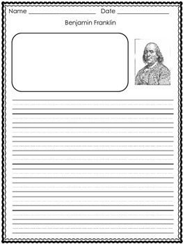 Ben Franklin Writing Paper
