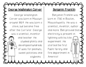 Ben Franklin and George Washington Carver Compare and Contrast