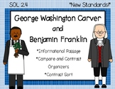 Ben Franklin & George Washington Carver Compare and Contrast {SOL 2.4}