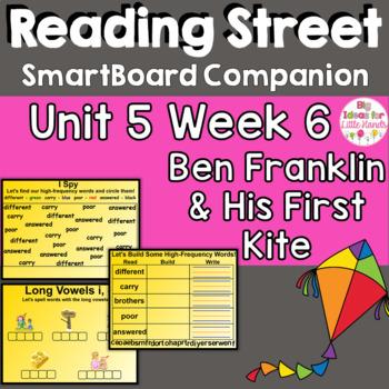 Ben Franklin and His First Kite SmartBoard Companion 1st Grade