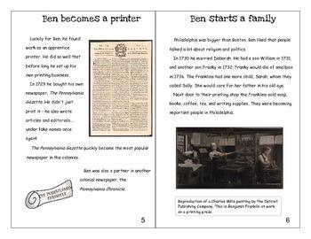 Ben Franklin mini-book and activities